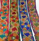 Remnant Indian Lace Colourful Fabric Trim Ribbon Sewing Craft Sari Border 70 cm