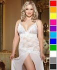 New Dreamgirl 8489X Plus Size Lace Courtesan Gown and Thong