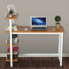 4 Tier Computer Office Desk Wood PC Laptop Study Writing Table Storage Shelves
