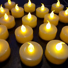 LED Flickering Flameless Battery Candles Tea Lights Amber Wedding Tealights UK