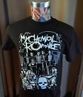BRAND NEW MY CHEMICAL ROMANCE BAND SKULL FACES BLACK T SHIRT image