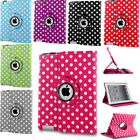 For iPad 9.7 2017 5th Gen A1822 A1823 Rotating Slim PU Leather Smart Case Cover