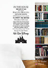 In this House we do Disney Castle style quote Rules vinyl Wall Art Wall Sticker