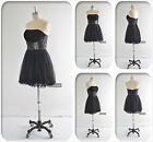 2017 New Arrivals Black Mini Prom Dress Ball Gown Cocktail Party Dress Size 6-16