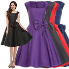 Womens Vintage Swing Pin Up Formal Ball Dresses Evening Cocktail Prom Size S-XL