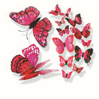 12pcs/bag 3D PVC Magnet Double Butterfly Wall Sticker Home Decoration Home Decor