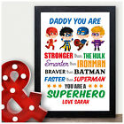 Uncle You are My Superhero Personalised Birthday Gifts Presents Uncle Brother