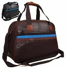 Quality Mens Faux Leather Holdall Gym Travel Weekend Cabin Bag Case Black Brown