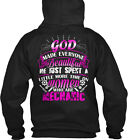 female gods - Female Mechanic - God Made Everyone Beautiful He Just Gildan Hoodie Sweatshirt