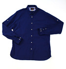 Scotch and soda slim fit navy blue mens long sleeve casual shirt