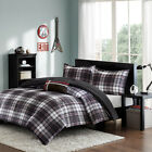 black and white striped comforter twin - BEAUTIFUL MODERN CLASSIC BLACK WHITE GREY RED PLAID COZY STRIPE COMFORTER SET