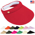 Clip on Golf Visor Hat for Ladies Women Wide Brim Sun Sport Tennis Beach Fashion