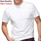 New 12 Pack Men's 100% Cotton Tagless T-Shirt Undershirt Tee Plain White S-XL image