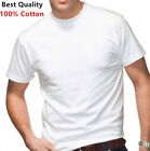 New 6 Pack For Men's 100% Cotton Tagless T-Shirt Undershirt Tee White S-XL