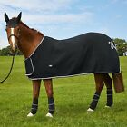 Dartmoor Fleece Showing Rug With Rope Detailing BLACK  6'0 LAST ONE Free P&P