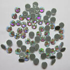 Crystal Glass Flatback Rhinestones Stones White  AB Nail art Clothes Decoration