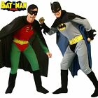 Batman/Robin Mens Superhero Adults Costume Stag Party Fancy Dress Cosplay Outfit