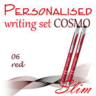 Personalised+2-element+set%3A+ball+pen%2C+pencil+%2ACOSMO+SLIM%2A+black%2Fblue+ink+%2A+