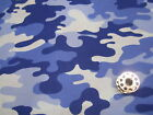 BLUE CAMO -SCRUB HATS / MEDICAL / SURGICAL---your choice OF 2 styles