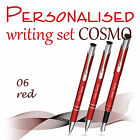 Personalised+3-element+set%3A+pen%2C+pencil%2C+fountain+pen+%2ACOSMO%2A+black%2Fblue+ink