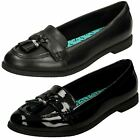 Clarks Bootleg Preppy Edge BL Black Leather Or Patent Senior Girls School Shoes