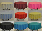 Plain Fabric Tablecloth / Linen 20 Colours 10 sizes 100% Polyester