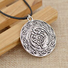 Valknut Viking Pendant Necklace Wolf Fox Eagle Crow Amulet Unisex Jewelry Gift