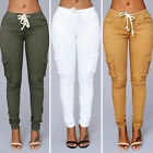 New Fashion Women Casual Pencil Pants Jogger Dance Slacks Skinny Stretch Trouser