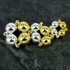 5 10 20 x  Gold Plated Strong Magnetic Round Ball Clasps 6mm Kss/G