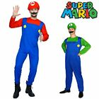 Super Mario Luigi Brothers Nintendo Video Game Mens Adult Fancy Costume One Size