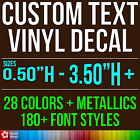 Custom Vinyl Lettering Decal Personalized Sticker Window Wall Text City Name Car