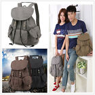 Hot Multi-pocket Men Canvas Women Backpack Knapsack Packsack Satchel Travel Bag