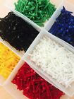 5 PACK NYLON M2 M3 BOLTS RED BLUE GREEN YELLOW NATURAL BLACK NUTS + WASHERS
