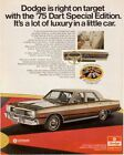 07567 1975 DODGE DART CAR AD ART PRINT $24.95 CAD on eBay