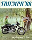 08019 1966 TRIUMPH MOTORCYCLE AD ART PRINT $18.52 USD on eBay
