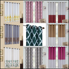 Kyпить 2 DESIGN PRINTED GROMMET PANELS FOAM LINED BLACKOUT WINDOW CURTAIN TREATMENT  на еВаy.соm