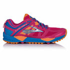 Brooks Cascadia 11 Womens Pink Blue Trail Running Sports Shoes Trainers