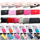 Women Zipper Leather Long Purse Coin Phone Bag Wallet Clutch Card Holder Handbag