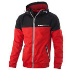 """HOMELAND"" Hooded Windbreaker Jacket Red Pit Bull West Coast"