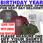 BIRTHDAY T SHIRT WITH YOUR YEAR (REQUIRED WITH ORDER) PRINTED ON FOR YOU
