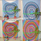 Indian Parrot Tapestry Mandala Wall Hanging Bohemian Queen Bedspread Wall Decor