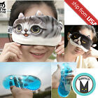 Cute Cat Face Tail Funny Eye Cooling Ice Gel Pad Mask Travel Sleep Aid Blindfold