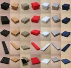 PACK OF CARDBOARD GIFT / JEWELLERY BOXES - FLOCK PAD INSERT - WHOLESALE