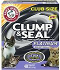 Arm And Hammer Clump And Seal Platinum Litter, Multi-Cat, 40 Lbs