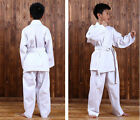 men boys girls taekwondo costume training sports suit polyester cotton uniform