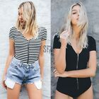 Women Summer One Piece Jumpsuit Push Up Padded Bikini Suit Monokini Swimwear TYU