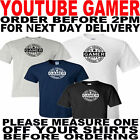 YOU TUBE GAMER T SHIRT ALL SIZES TO 5XL(OTHER COLOURS AVAILABLE)