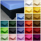 Easycare Non Iron Plain Dyed FITTED SHEET 25CM (9INCH) DEEP