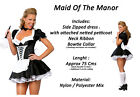 French Maid Black White Valentine Fancy Dress Costume Party Ladies Womens 4 6