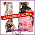 ❤ Robe/Lingerie Bustier ❤ Filet Large/Résille Destroy ❤ ClubWear Sexy Fishnet ❤